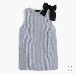 Blue and white stripe sleeveless top